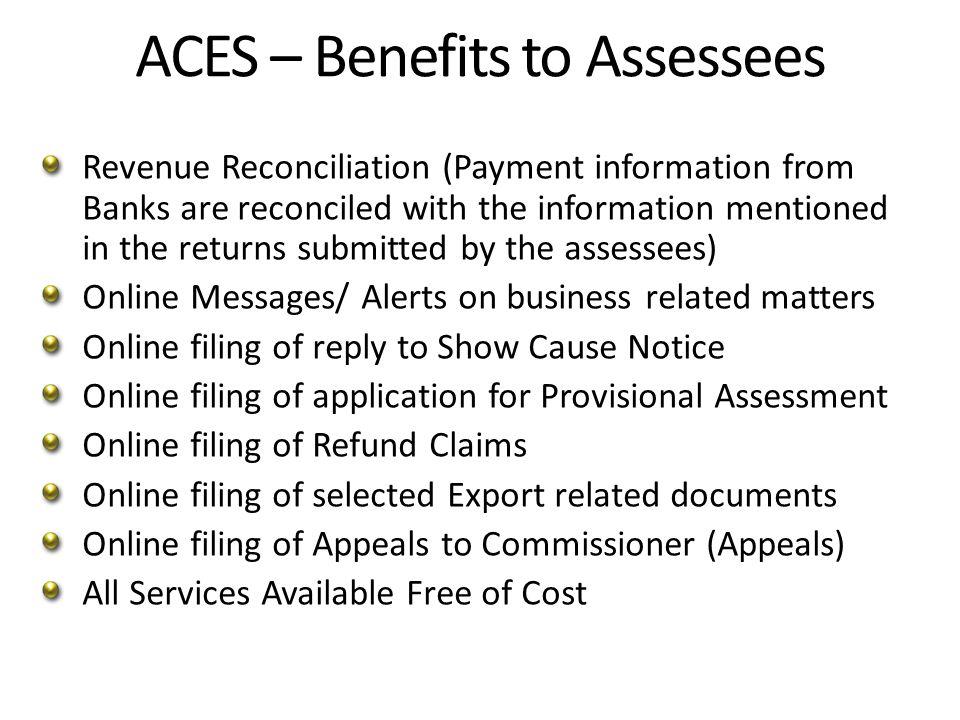 ACES-New Developments- CBEC Notification CBEC has issued Notification No.