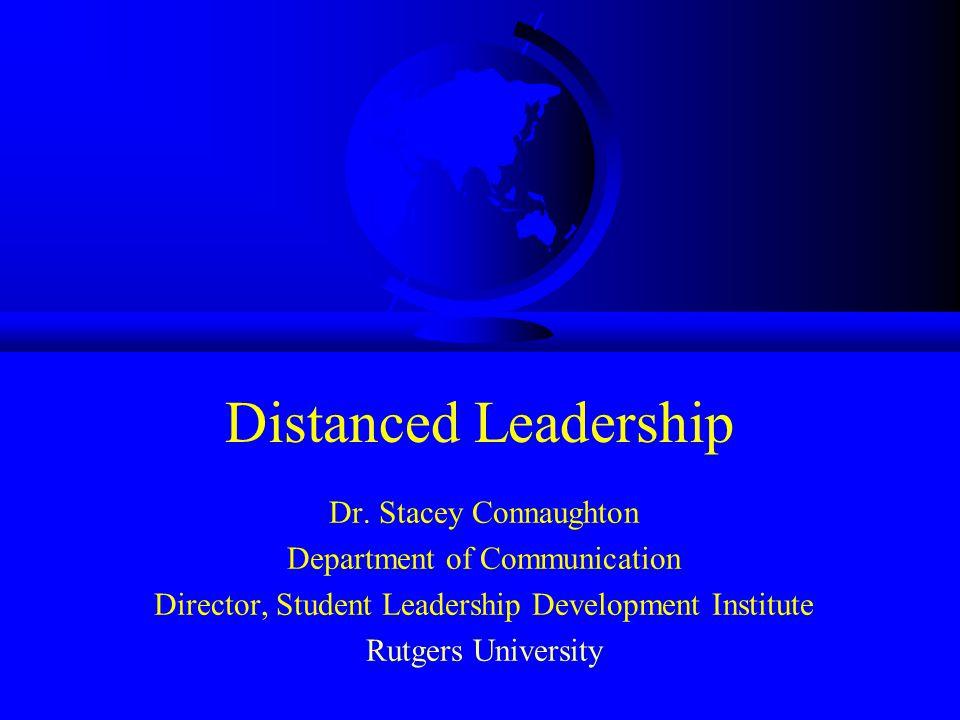 Distanced Leadership Dr.