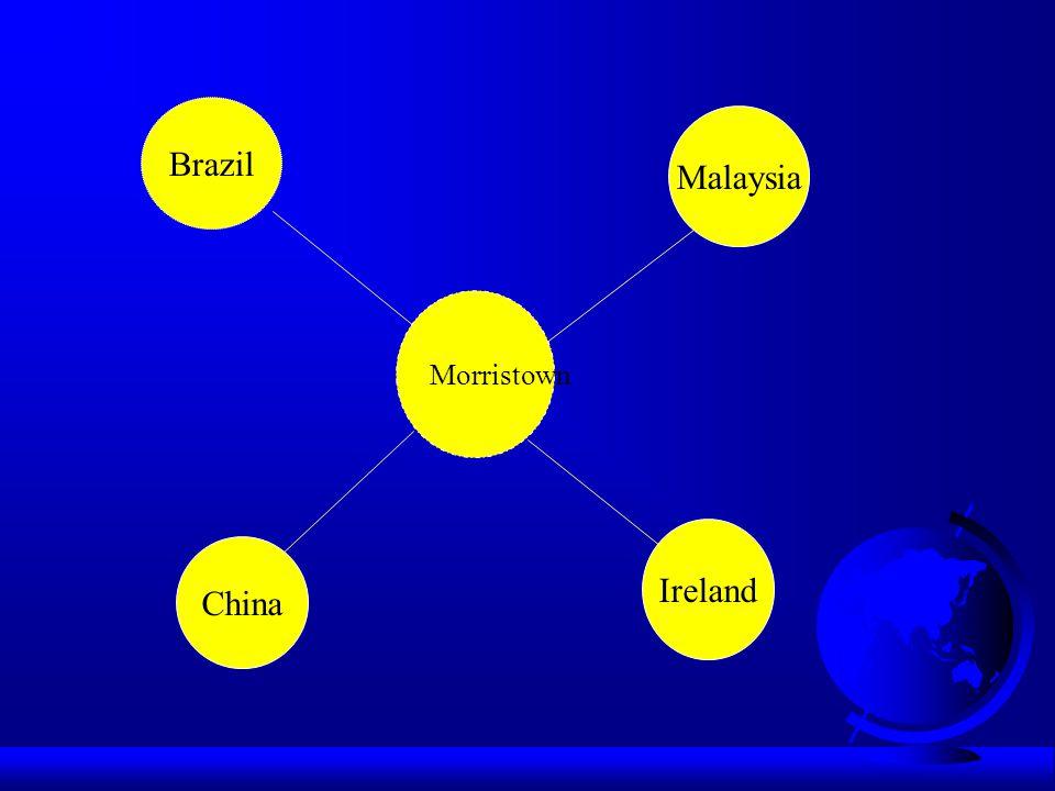 Morristown Brazil Malaysia China Ireland