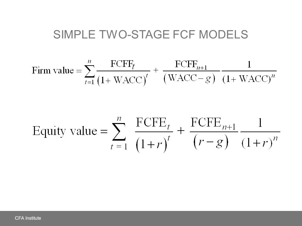 SIMPLE TWO-STAGE FCF MODELS