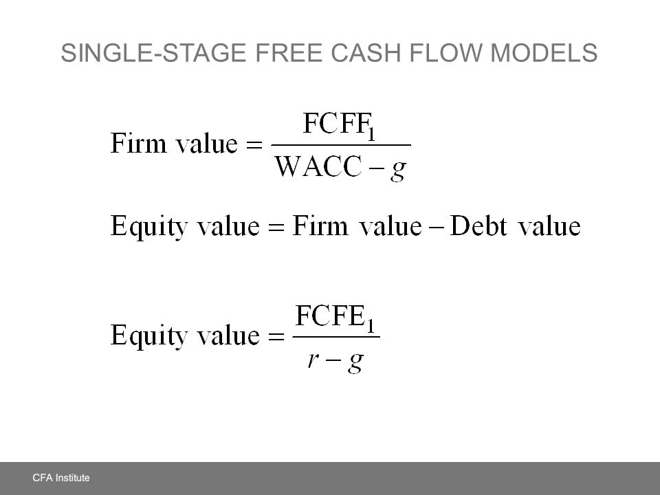 SINGLE-STAGE FREE CASH FLOW MODELS