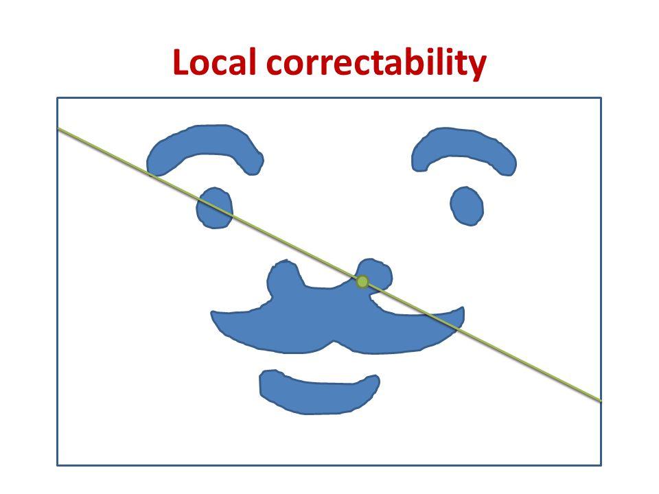 Local correctability