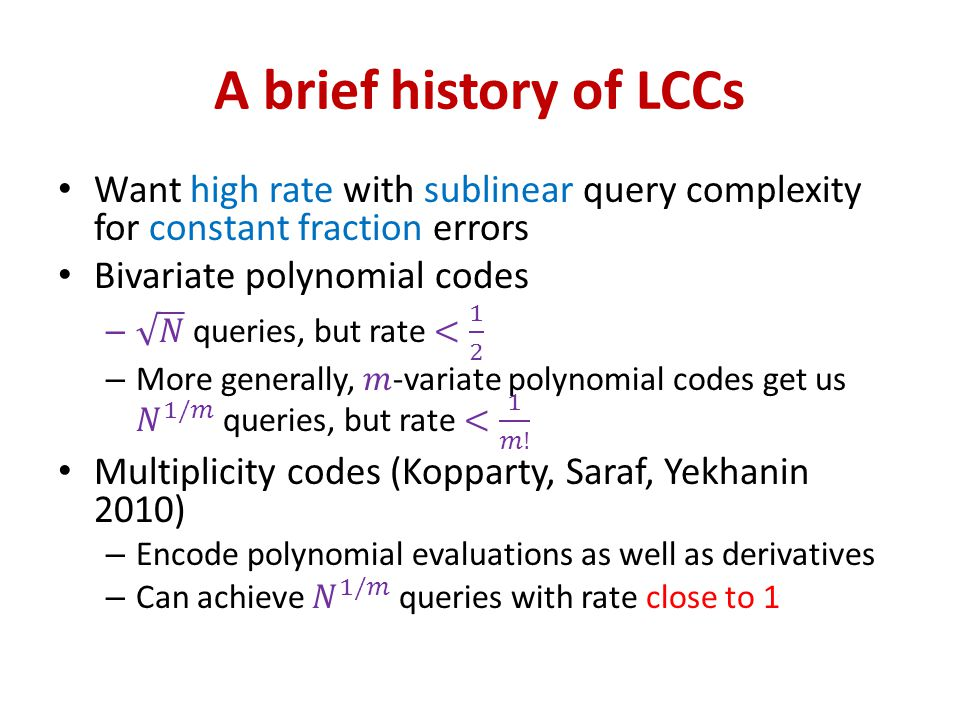 A brief history of LCCs