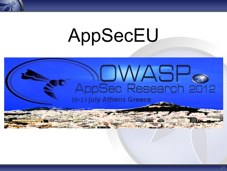 AppSecEU 21