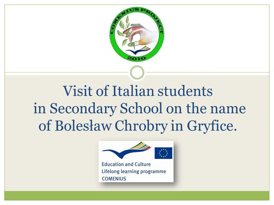 Visit of Italian students in Secondary School on the name of Bolesław Chrobry in Gryfice.