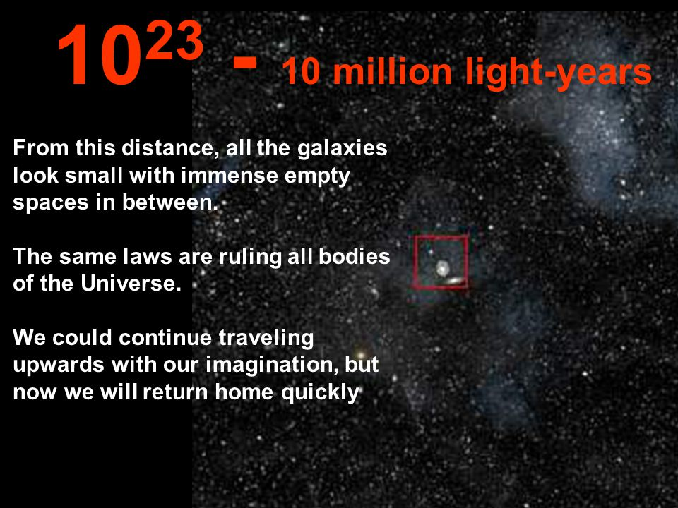 At this tremendous distance we could see all the Milky Way & other galáxies too...