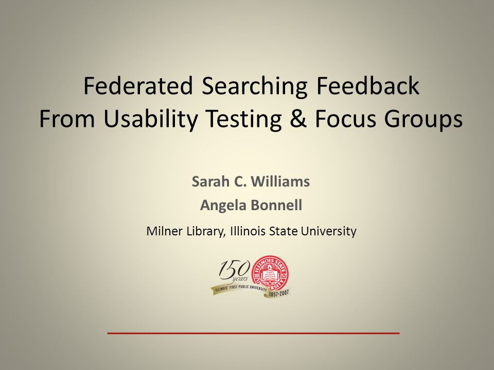Focus Group Highlights Wrap-Up Additional Features – Limit by format – More articles like this Should the library keep Search It – 8 of 8 respondents said that the library should keep Search It Students would be better off with Search It than without it.