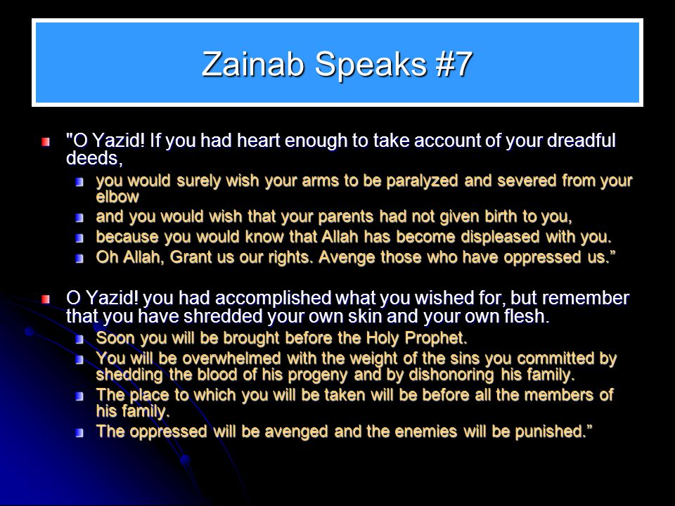 Zainab Speaks #7