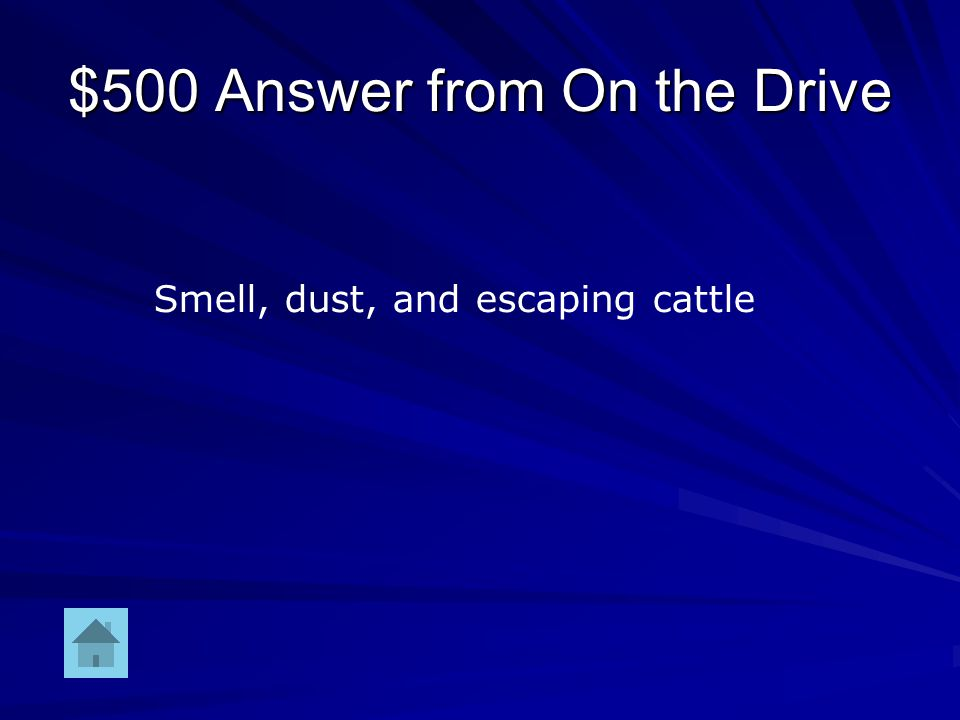 $500 Question from On the Drive Reasons why drag was the worst position to ride