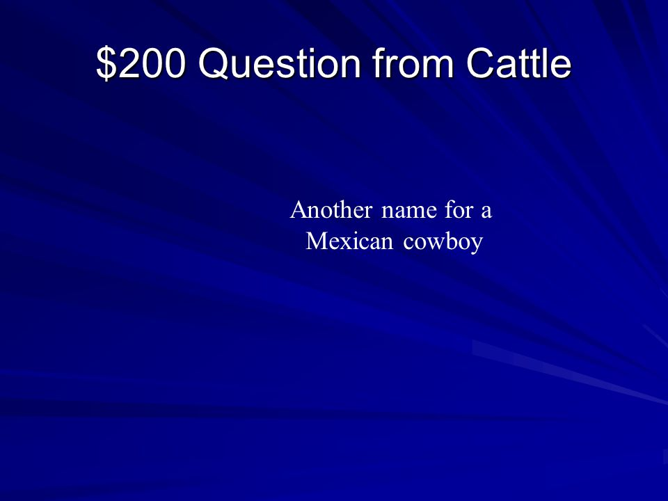 $100 Answer from Cattle Christopher Columbus