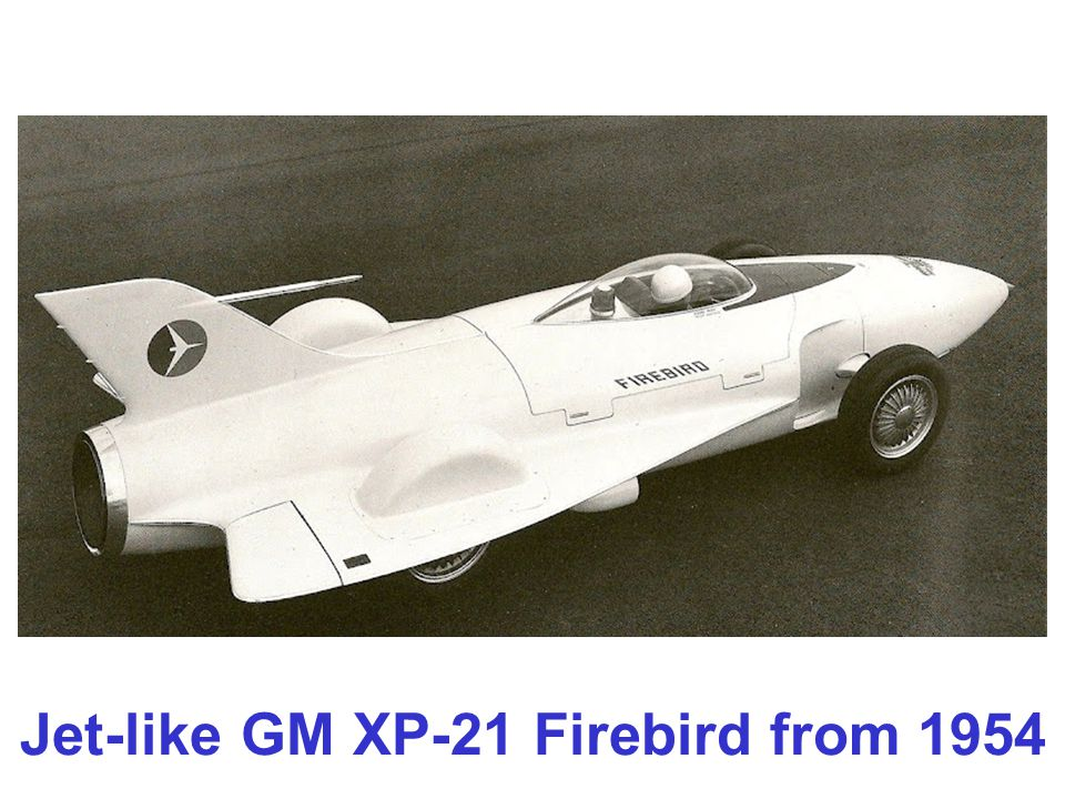 Jet-like GM XP-21 Firebird from 1954