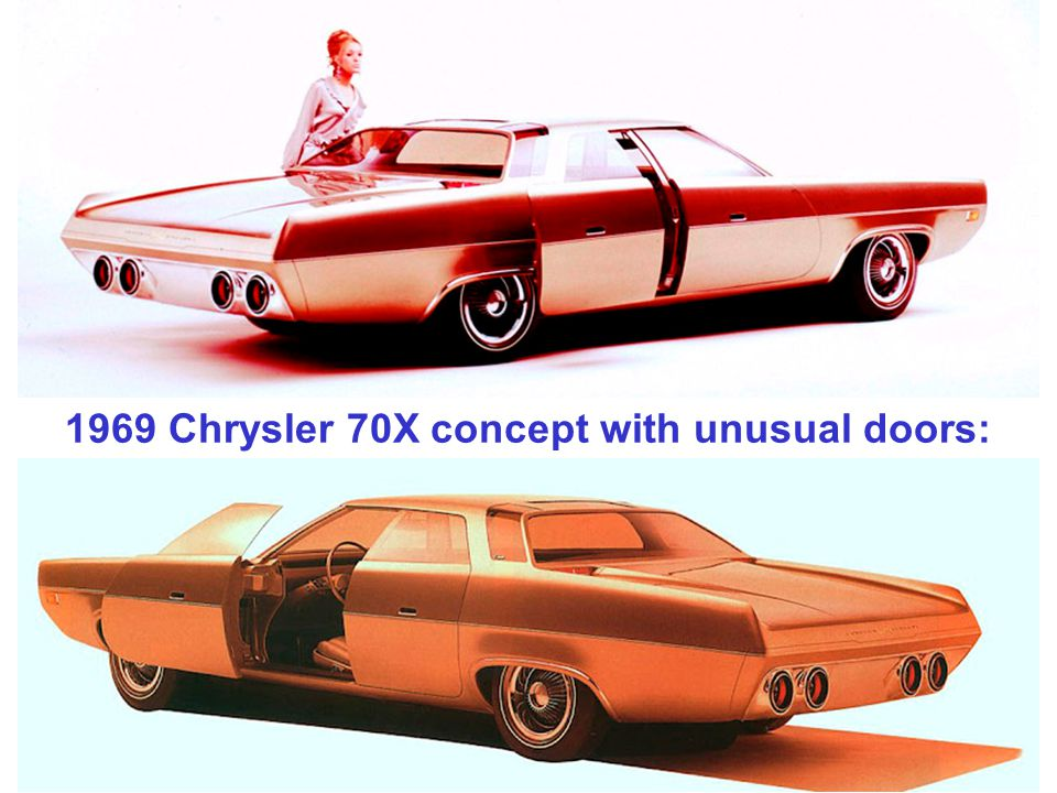 1969 Chrysler 70X concept with unusual doors: