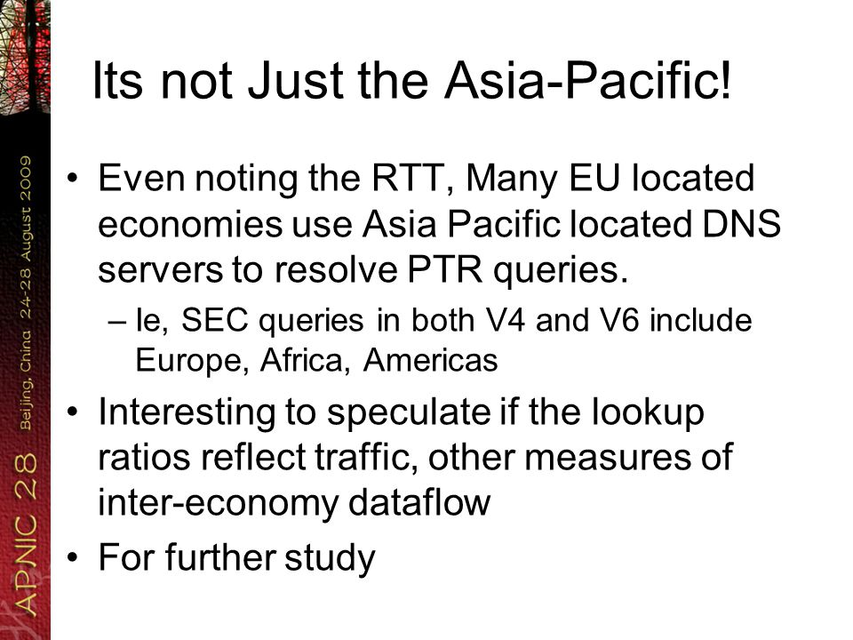 Its not Just the Asia-Pacific.