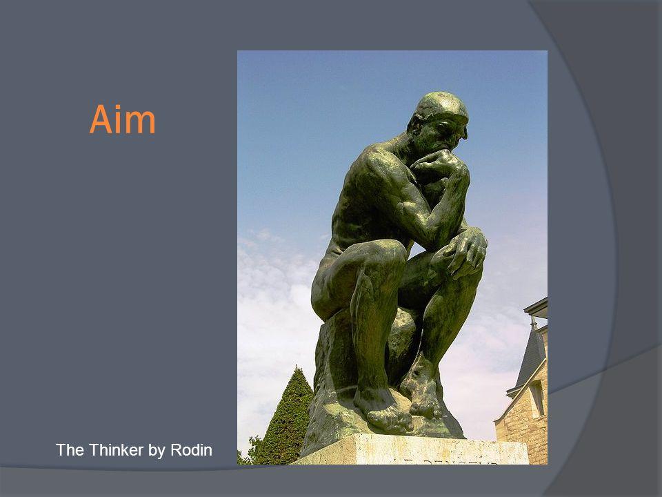 Aim The Thinker by Rodin