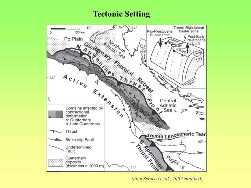 Tectonic Setting (from Scrocca et al., 2007 modified)