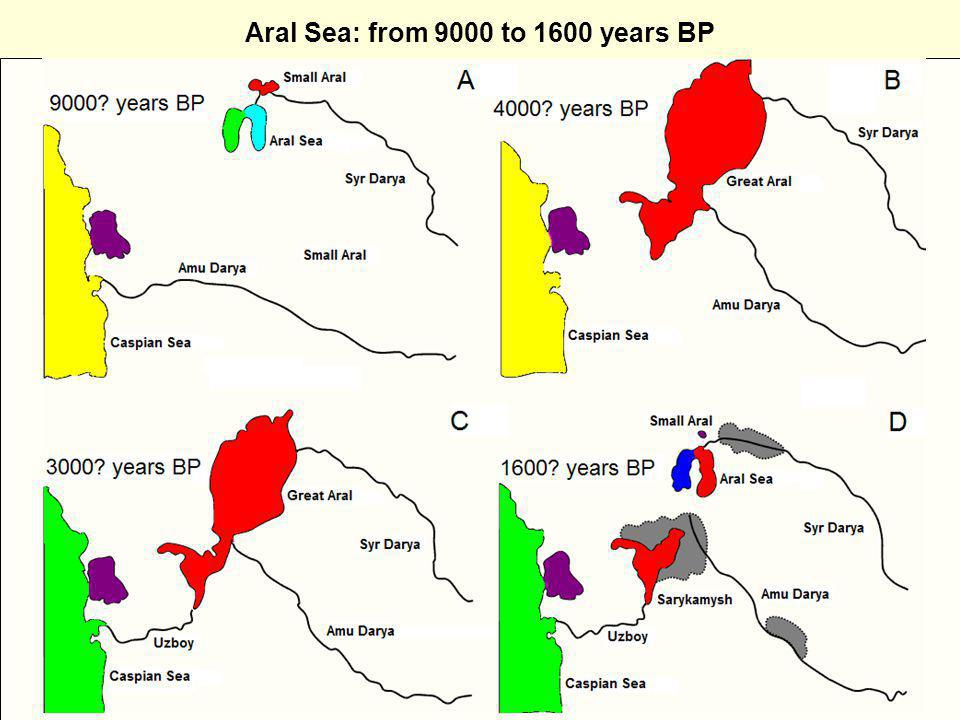 Aral Sea: from 9000 to 1600 years BP