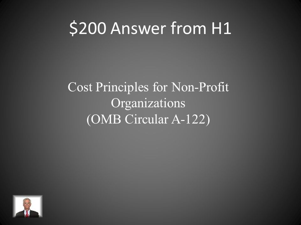 $200 Answer from H1 Cost Principles for Non-Profit Organizations (OMB Circular A-122)