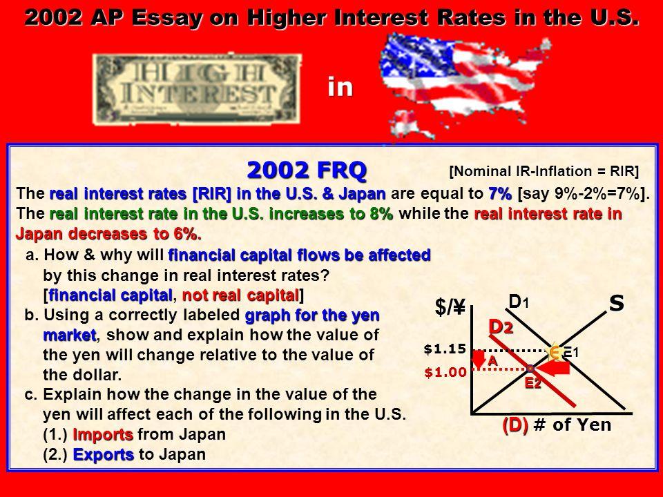 2002 FRQ 2002 FRQ real interest rates [RIR] in the U.S.