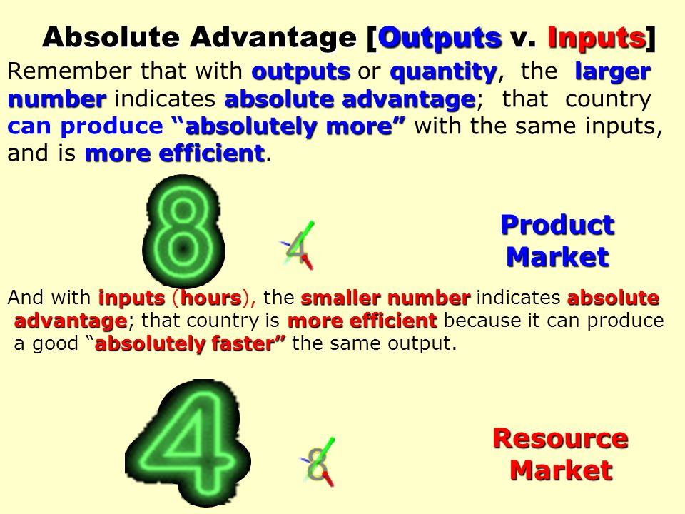 absolute advantage in both commodities 6. (Djibouti/Mexico) has an absolute advantage in both commodities. comparative advantage in producing wheat 7.