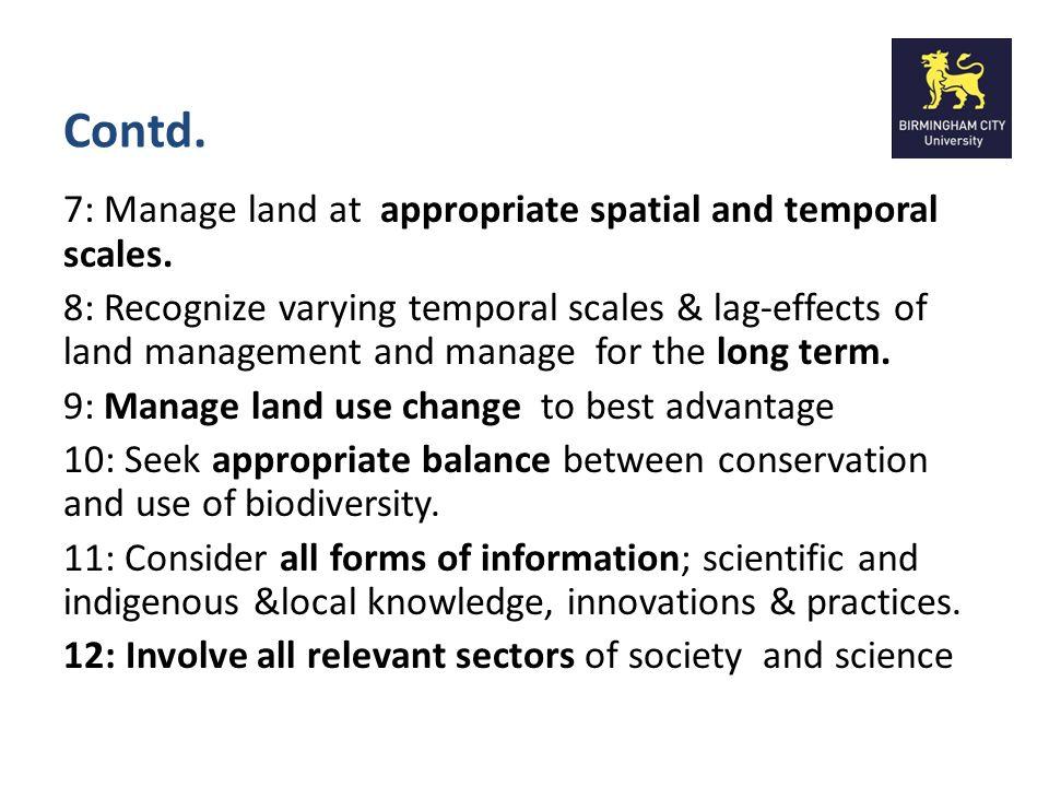 Ecosystem Services (Principle 5)