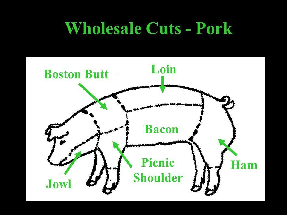 Wholesale Cuts - Pork Boston Butt Picnic Shoulder Loin Ham Bacon Jowl