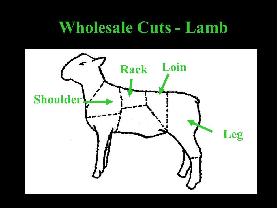 Wholesale Cuts - Lamb Shoulder Rack Loin Leg