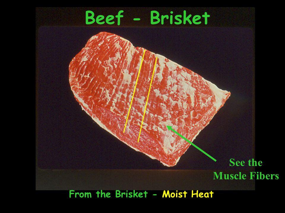 Beef - Brisket From the Brisket - Moist Heat See the Muscle Fibers
