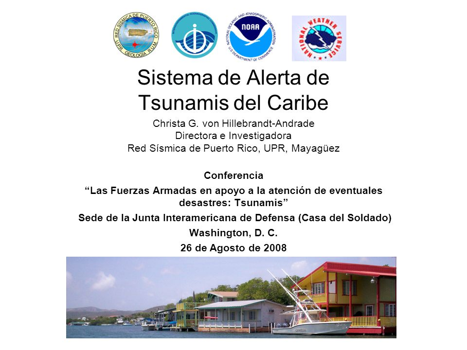 Intergovernmental Coordinating Group for the Tsunami and other Coastal Hazards Warning System for the Caribbean and Adjacent Regions (ICG-C) UNESCO/IOC body 30 member states, commonwealths, territories Established in 2005 Sessions held in 2006, 2007 and 2008