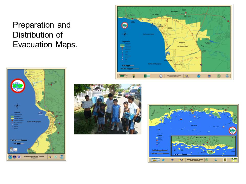 Preparation and Distribution of Evacuation Maps.