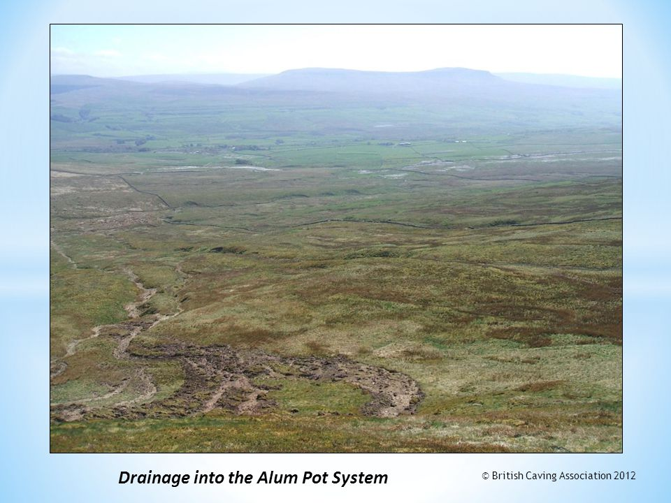 Drainage into the Alum Pot System © British Caving Association 2012