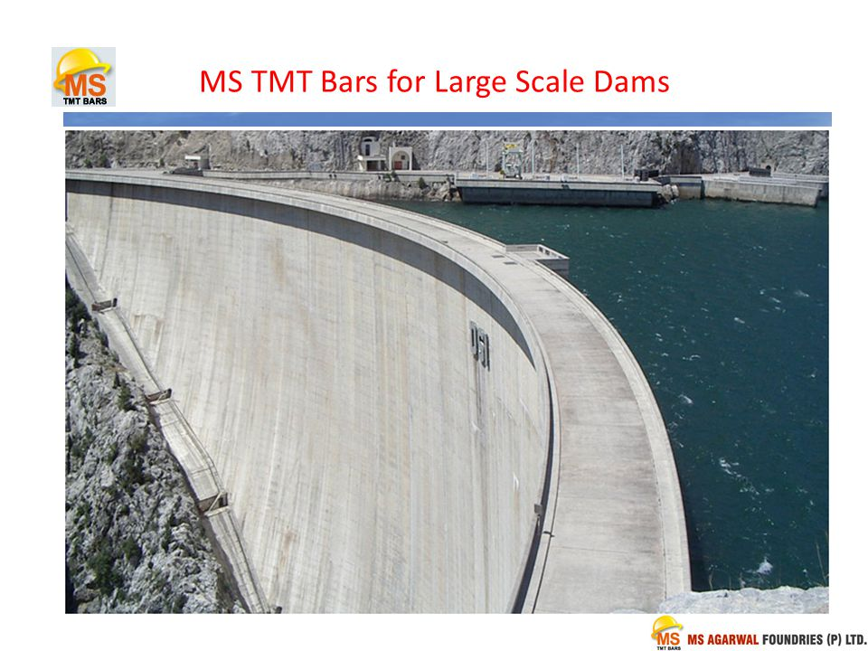 MS TMT Bars for Large Scale Dams