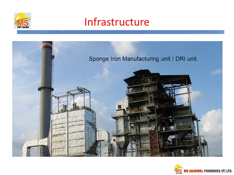 Infrastructure Mini Integrated Steel Plant in Medak Dist Sponge Iron Manufacturing unit / DRI unit.
