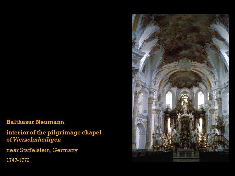 Balthasar Neumann interior of the pilgrimage chapel of Vierzehnheiligen near Staffelstein, Germany 1743-1772