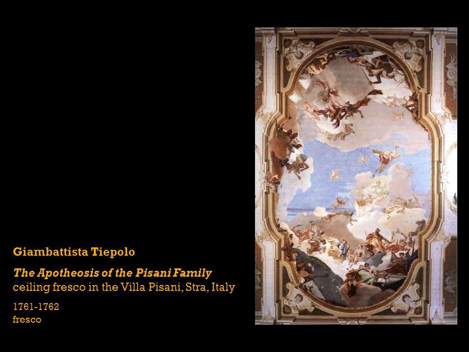 Giambattista Tiepolo The Apotheosis of the Pisani Family ceiling fresco in the Villa Pisani, Stra, Italy 1761-1762 fresco