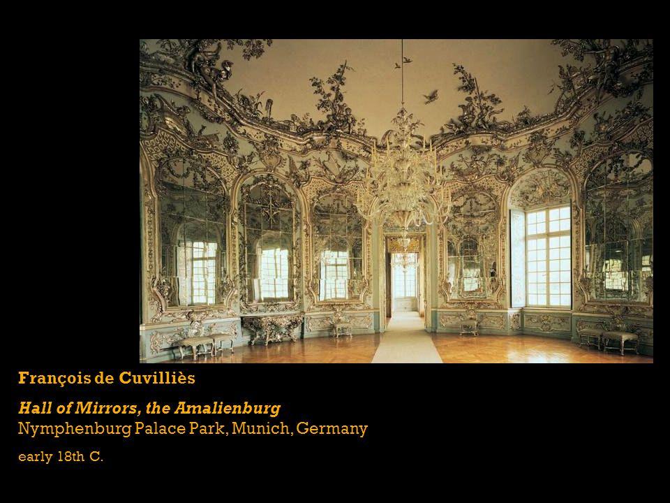 François de Cuvilliès Hall of Mirrors, the Amalienburg Nymphenburg Palace Park, Munich, Germany early 18th C.