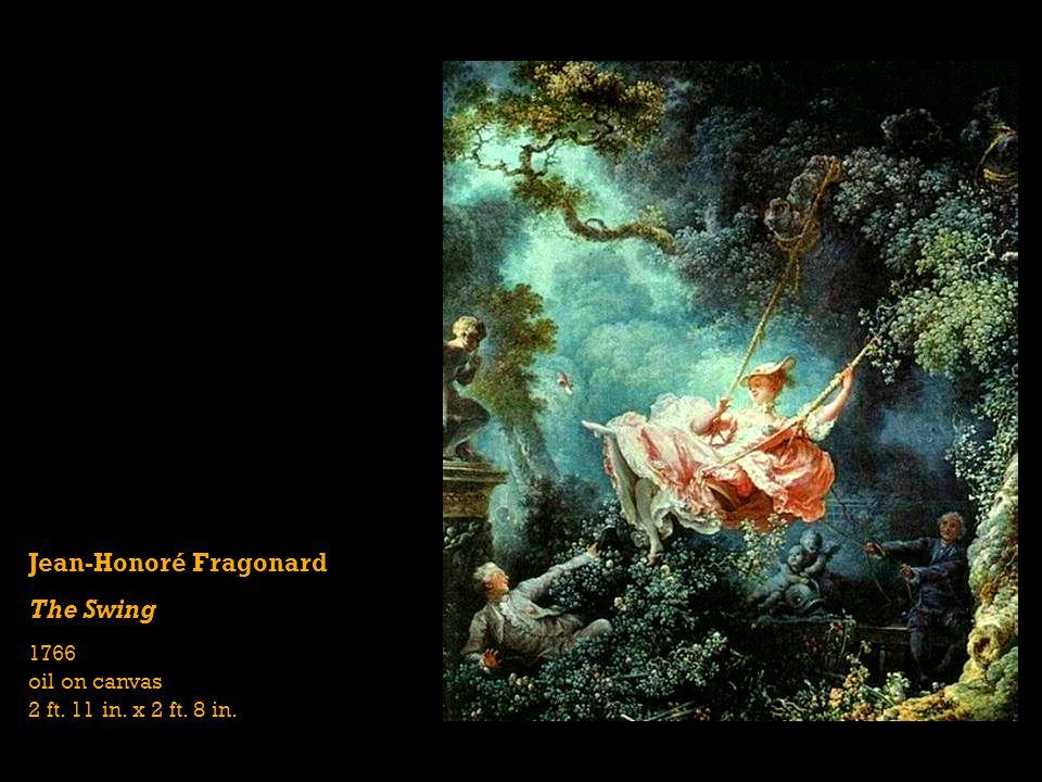 Jean-Honoré Fragonard The Swing 1766 oil on canvas 2 ft. 11 in. x 2 ft. 8 in.