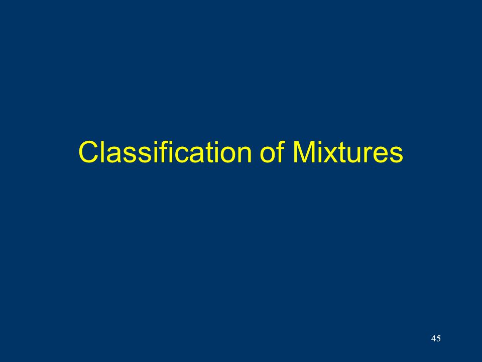 45 Classification of Mixtures