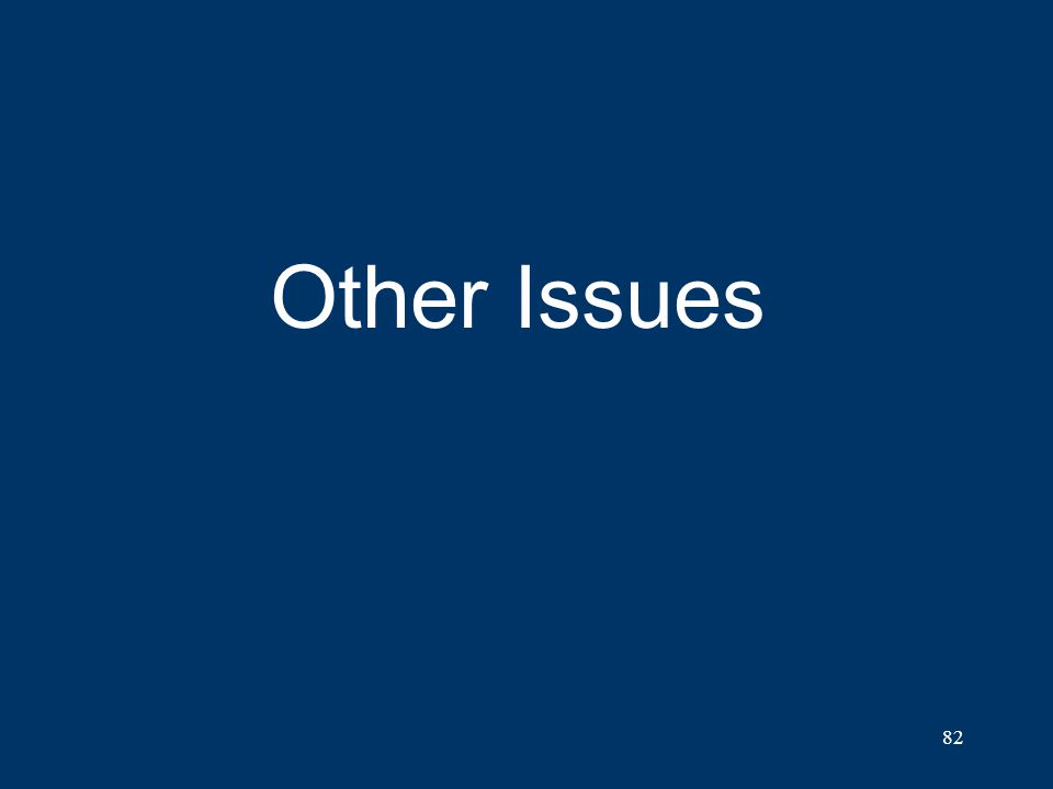 82 Other Issues