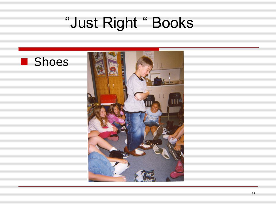 6 Shoes Just Right Books