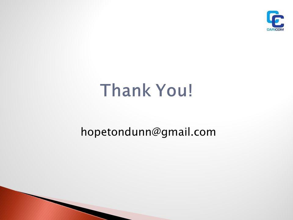 Thank You! hopetondunn@gmail.com