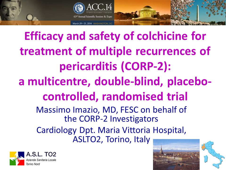 Efficacy and safety of colchicine for treatment of multiple recurrences of pericarditis (CORP-2): a multicentre, double-blind, placebo- controlled, ra