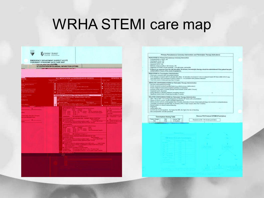 WRHA STEMI care map