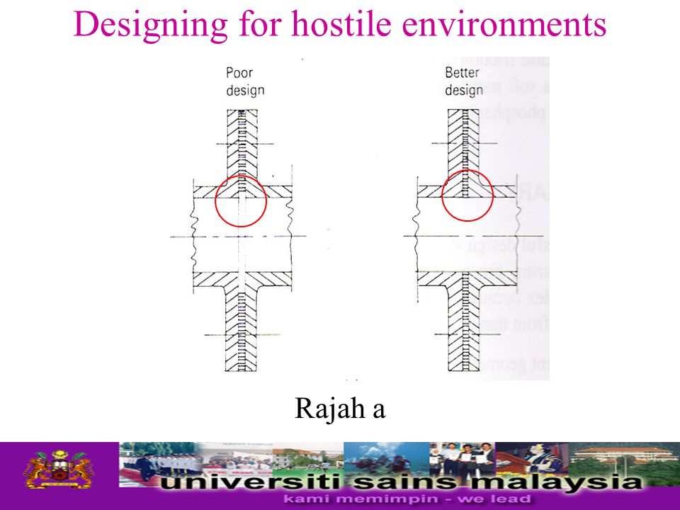 Designing for hostile environments If crevices cannot be avoided in design, they should be sealed by welding, soldering, or brazing with more noble alloy, adhesive, or caulking compounds.