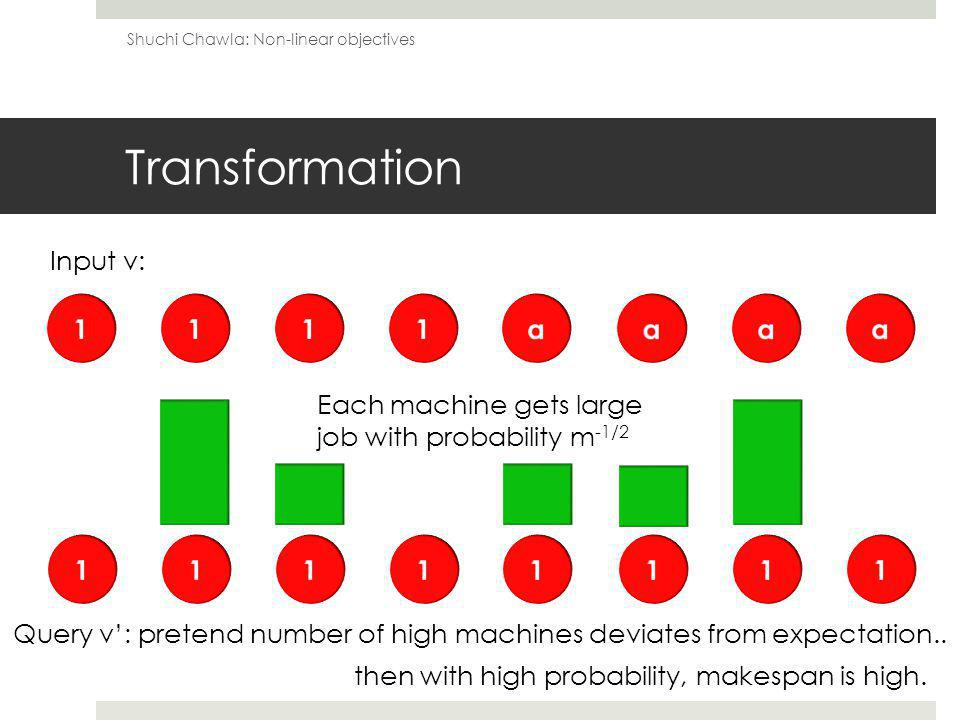 Transformation Query v: pretend number of high machines deviates from expectation..