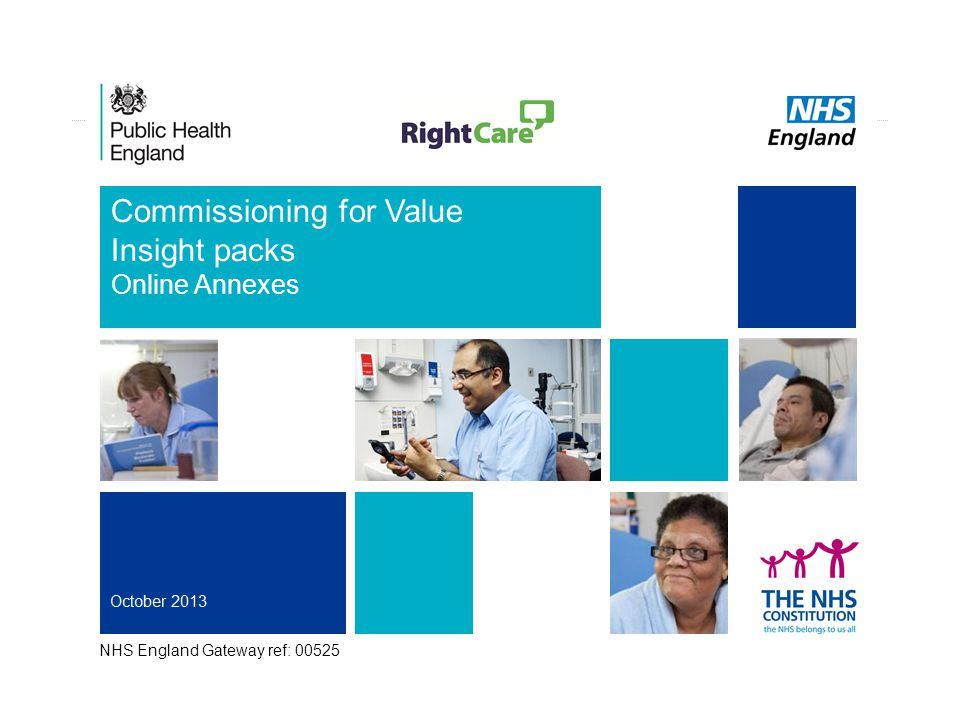 1 Commissioning for Value Insight packs Online Annexes NHS England Gateway ref: 00525