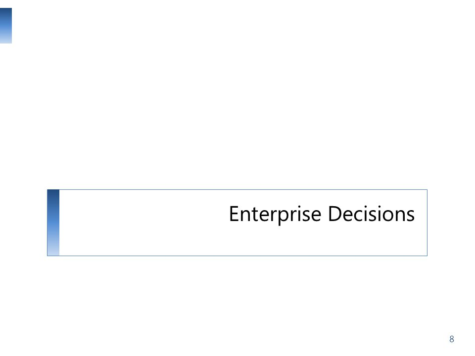 Enterprise Decisions 8