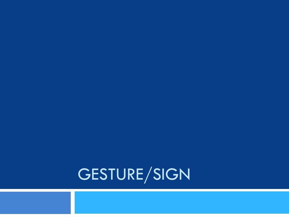 GESTURE/SIGN