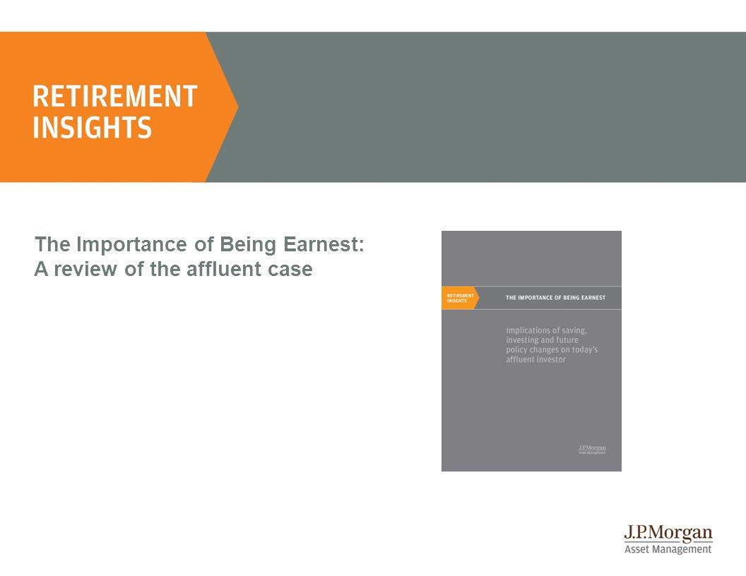 The Importance of Being Earnest: A review of the affluent case