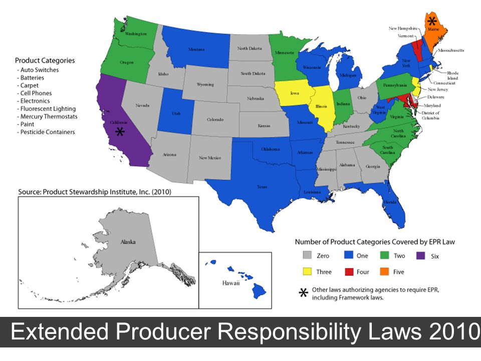 Extended Producer Responsibility Laws 2010