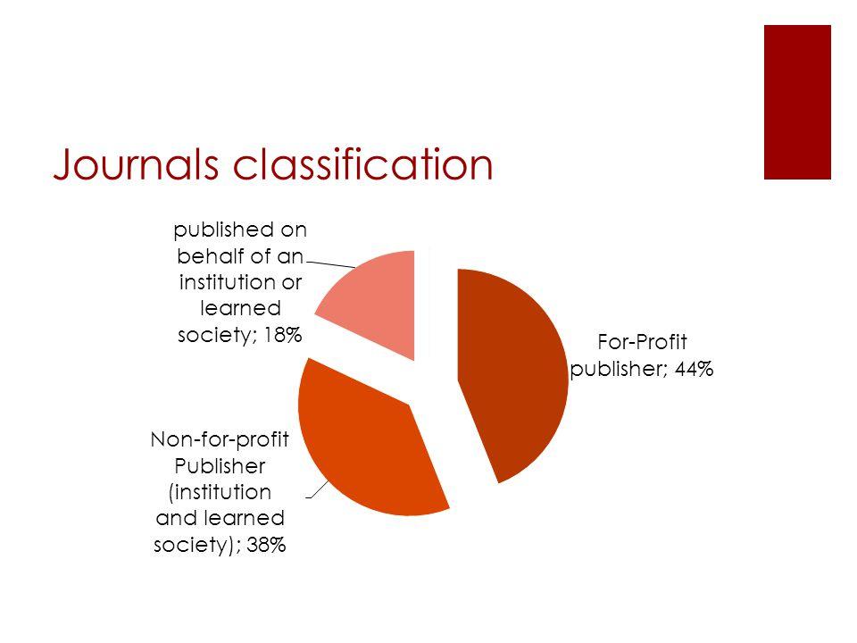 Journals classification